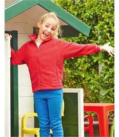Fruit of the Loom Childrens Full Zip Outdoor Fleece