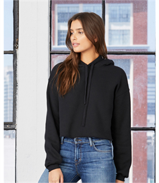 Bella+Canvas Womens Cropped Fleece Hoody