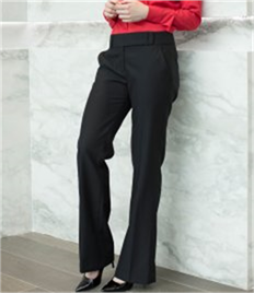 Henbury Ladies Flat Front Bootleg Trousers