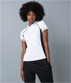 FINDEN & HALES LADIES PIPED PERFORMANCE POLO