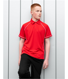 KIDS PERFORMANCE PIPED POLO