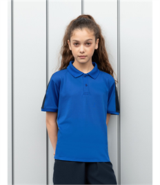 FINDEN & HALES KIDS CONTRAST PANEL POLO