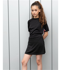 FINDEN & HALES GIRLS SKORT WICKING FINISH