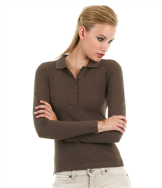 B&C Safran Pure Womens L/S Polo
