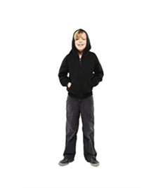 Uneek Childrens Classic Full Zip Hooded Sweatshirt